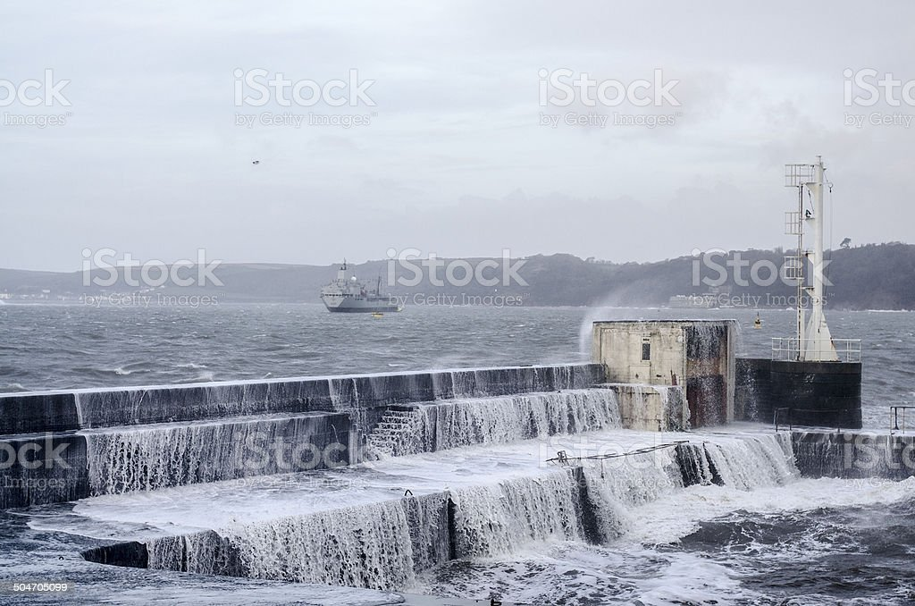 Winter Harbour royalty-free stock photo
