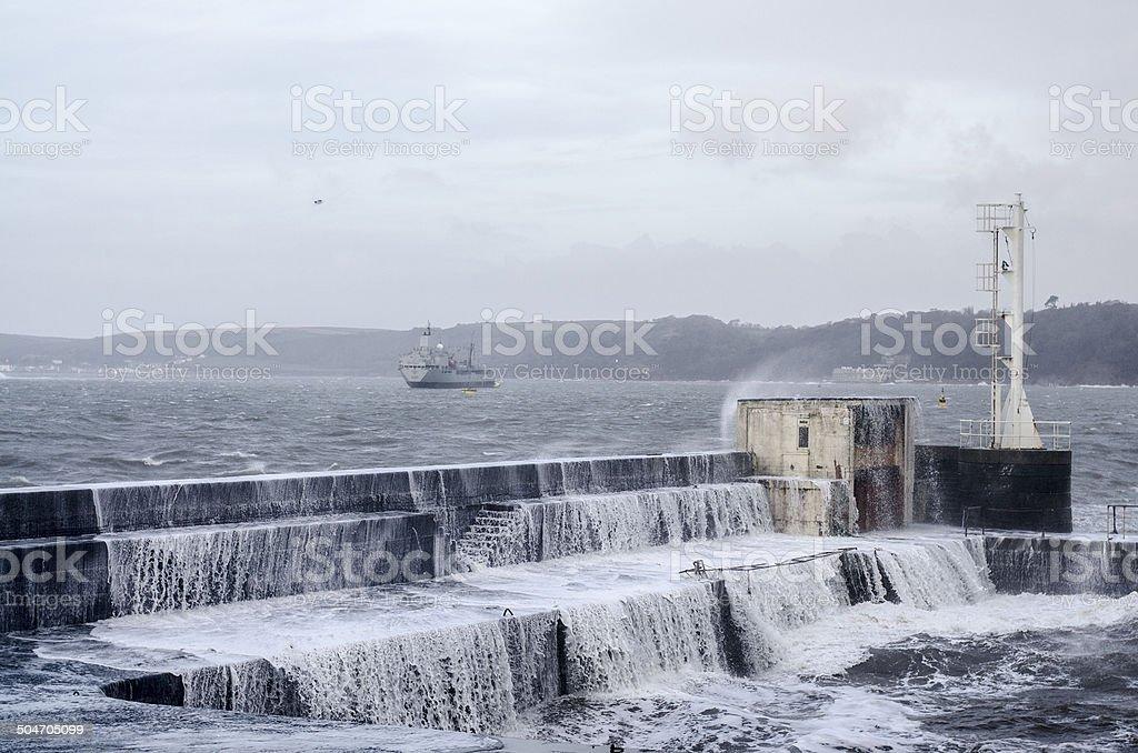 Winter Harbour stock photo