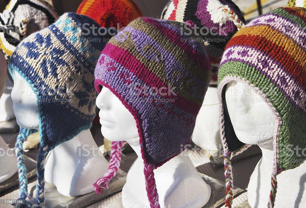 Winter Hat Fashion Female Mannequins stock photo
