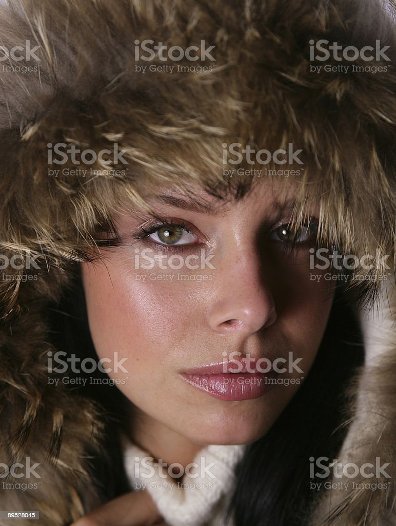 Winter hat stock photo