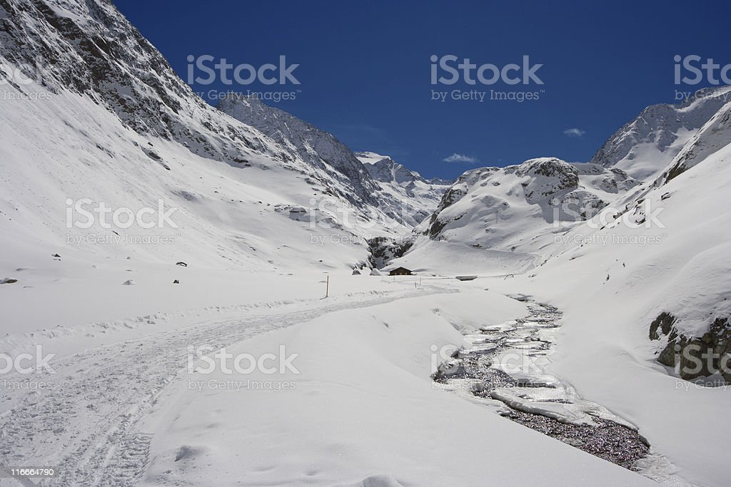 Winter High Valley royalty-free stock photo