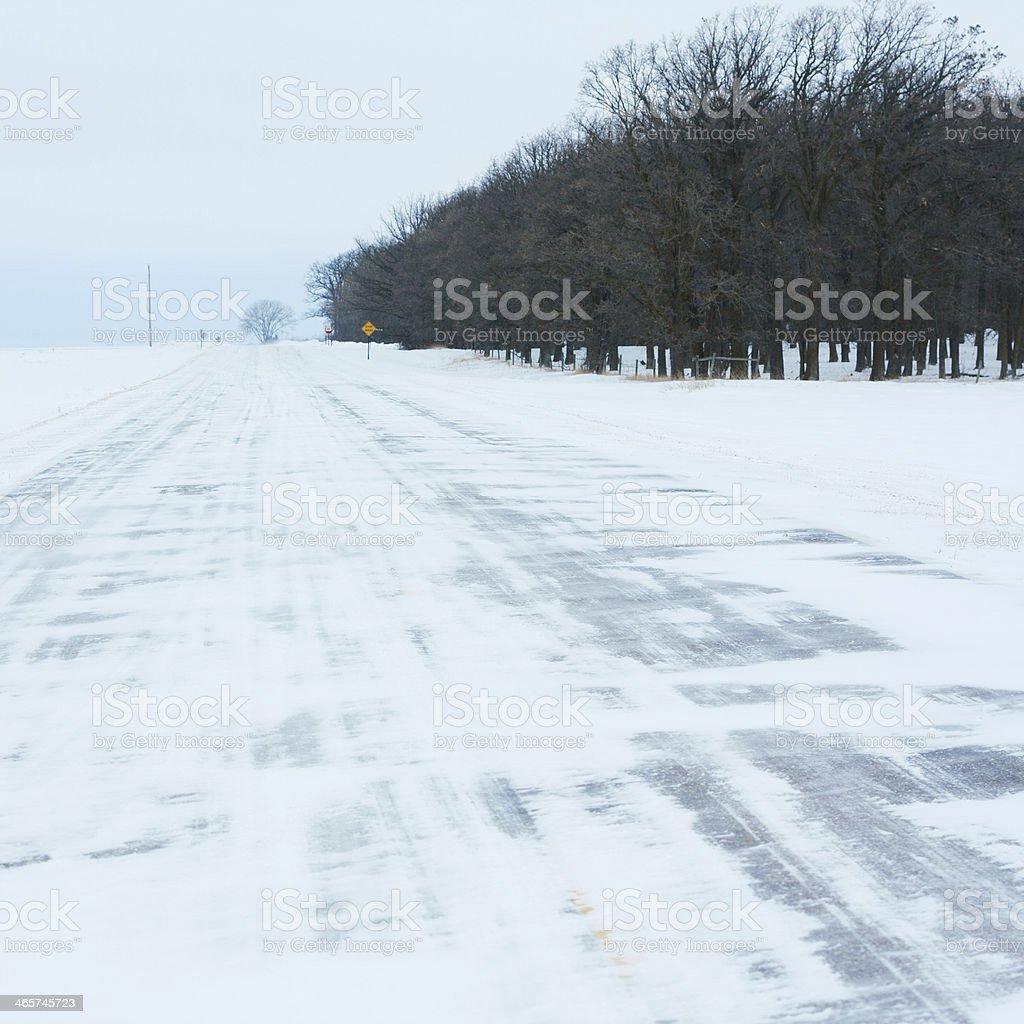 Winter Highway royalty-free stock photo