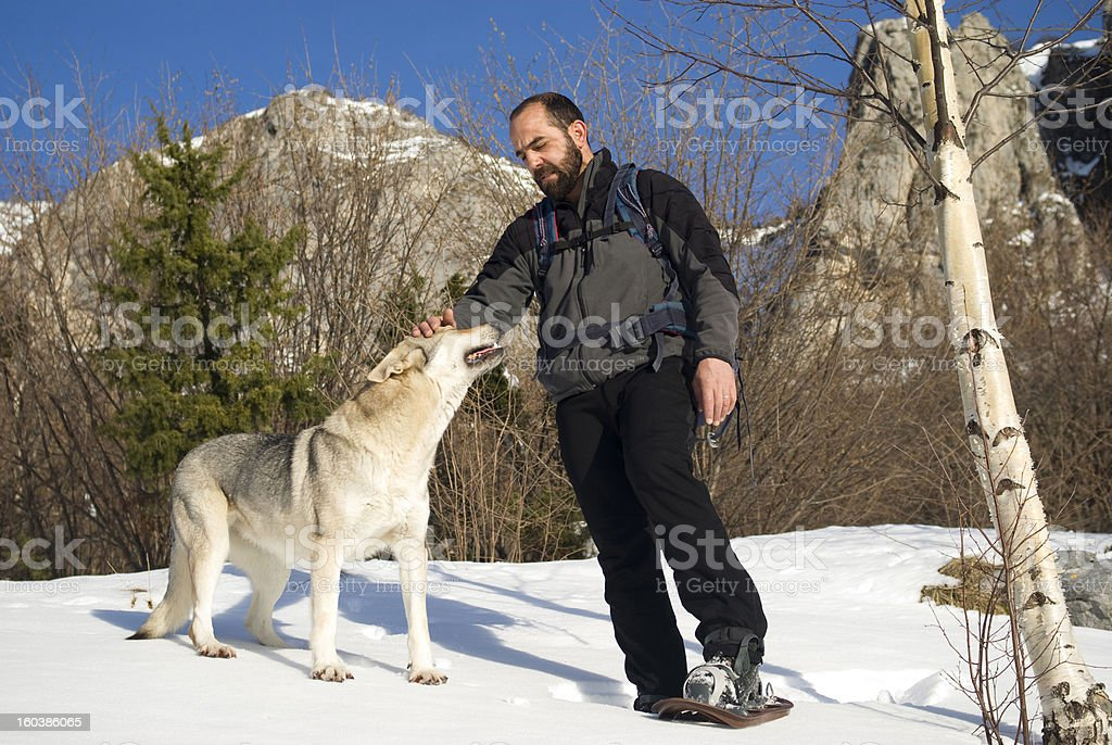Winter hike royalty-free stock photo
