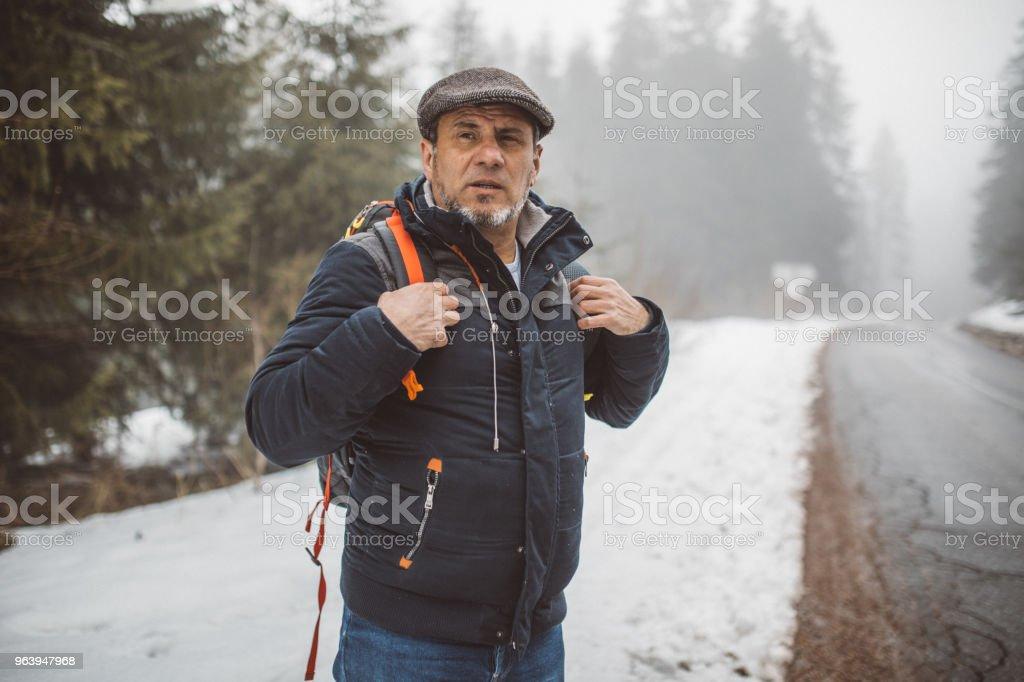 Winter hiking - Royalty-free Active Seniors Stock Photo