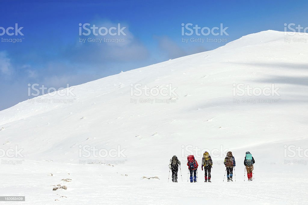 winter hiking-team – Foto