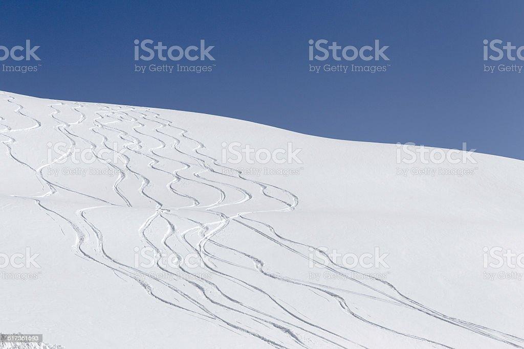 Winter hill stock photo