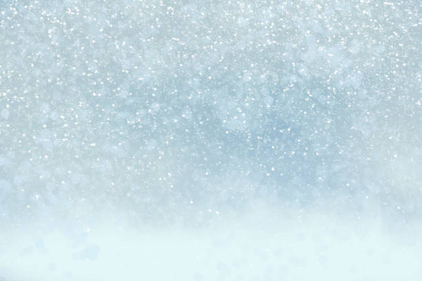 Winter holiday background with snow, copy space stock photo