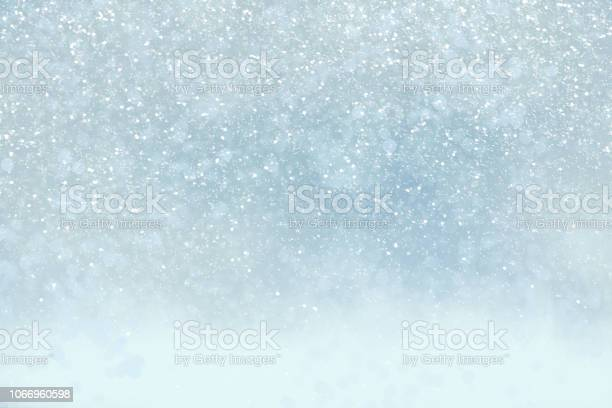 Photo of Winter holiday background with snow, copy space