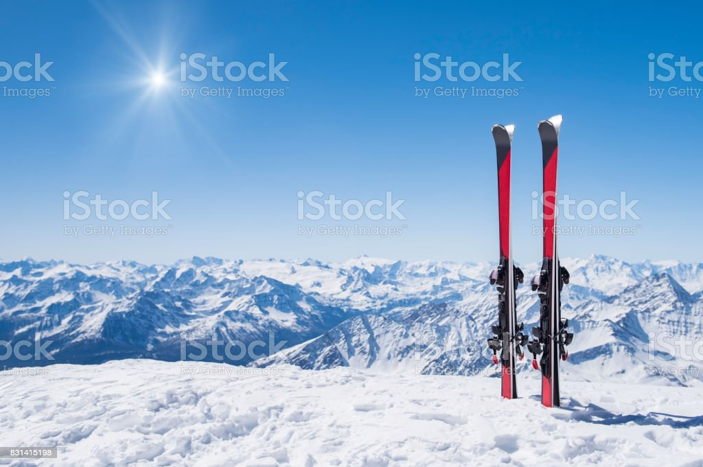 Winter holiday landscape stock photo