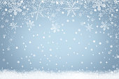 Winter holiday snow background with snowflakes for design