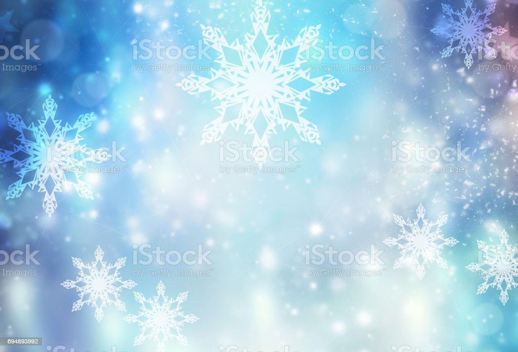 Winter holiday xmas blue illustration background. stock photo