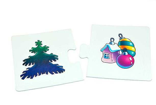 winter holidays puzzle stock photo