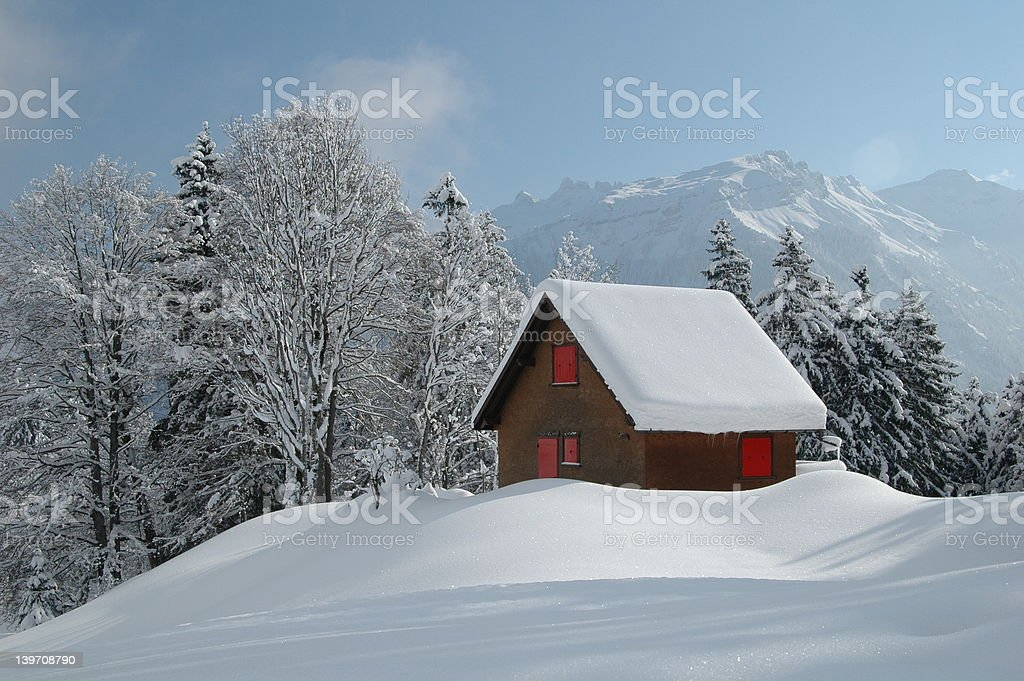 Winter Home royalty-free stock photo