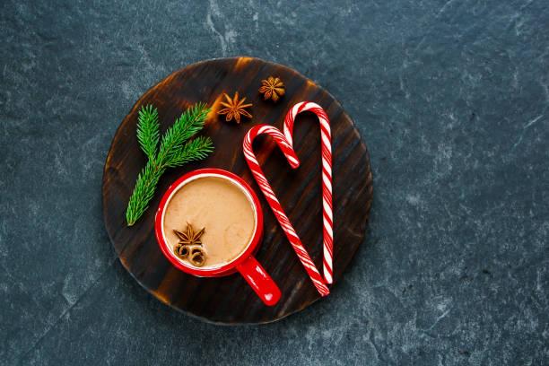 Winter hot chocolate stock photo