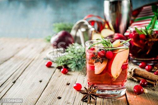 istock Winter hot sangria cocktail 1170494004