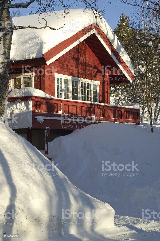 winter house royalty-free stock photo