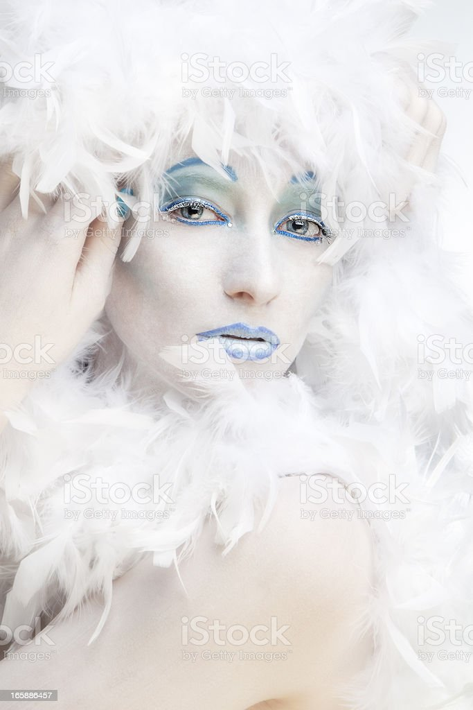 Winter: ice queen royalty-free stock photo