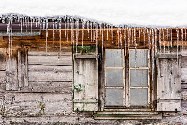 winter eindruck - horizontal gestreiften vorhängen stock-fotos und bilder
