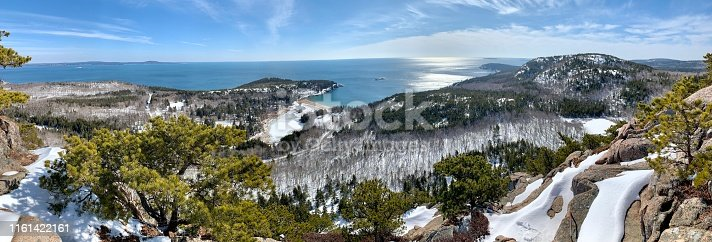 A great panoramic view from Acadia National Park
