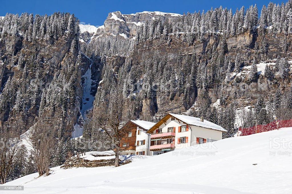 Winter in alps stock photo
