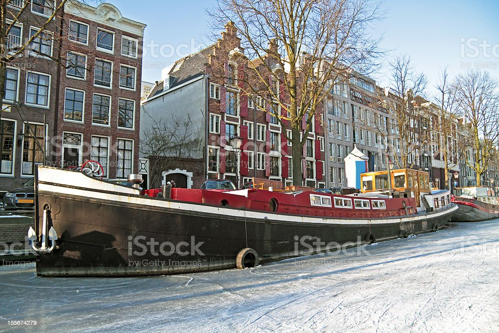 Winter in Amsterdam the Netherlands royalty-free stock photo