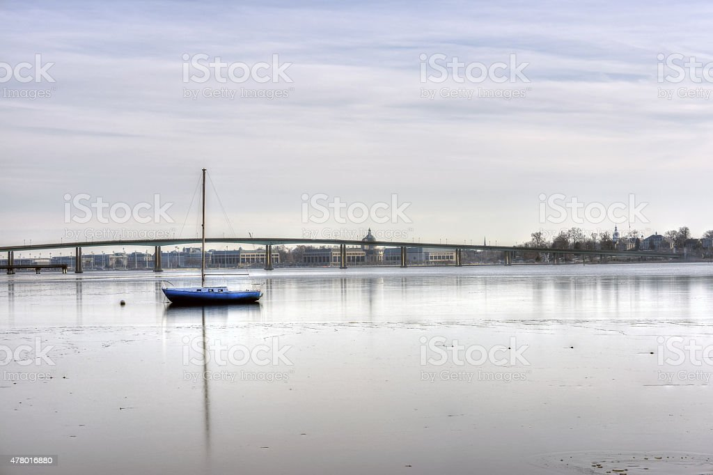 Winter in Annapolis Maryland stock photo