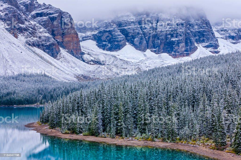 Winter In Banff National Park In Alberta Canada Stock Photo