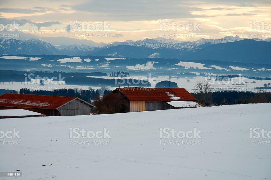 Winter in Bavaria royalty-free stock photo