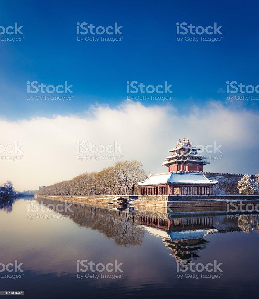 Winter in Beijing stock photo