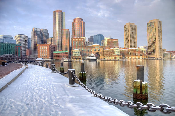 Winter in Boston, Massachusetts stock photo