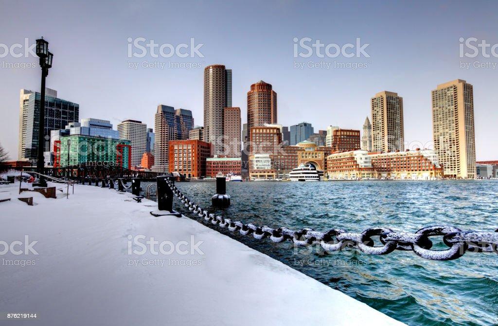 Winter in Boston stock photo