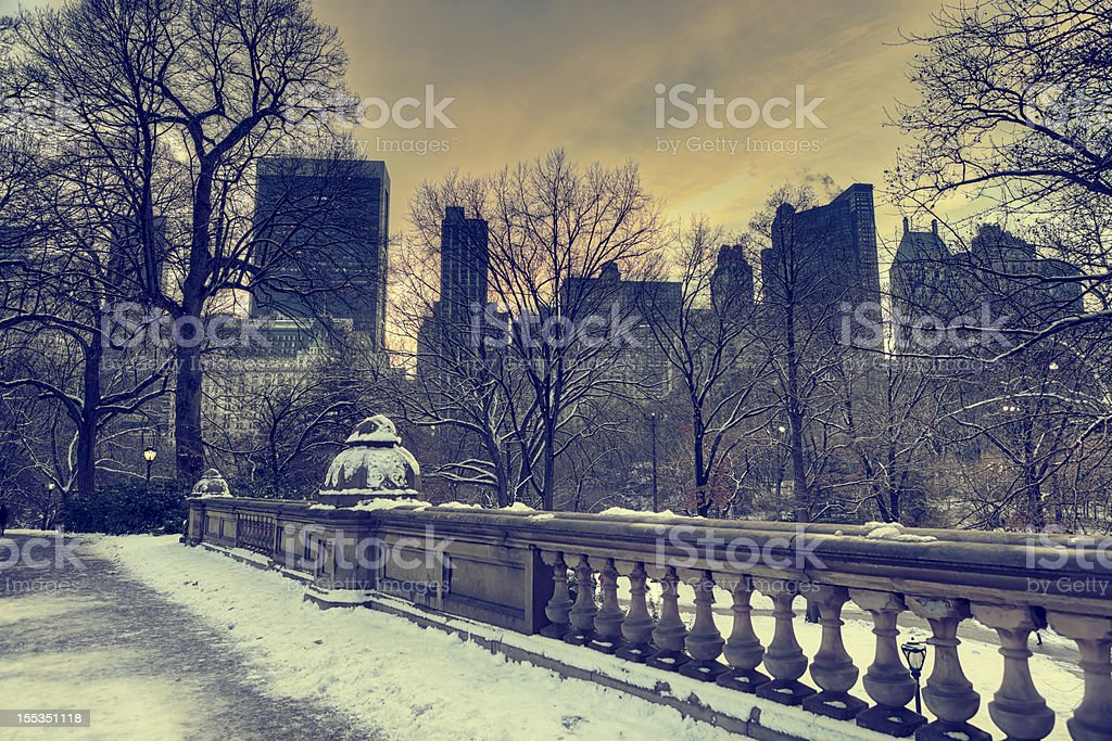 Winter in Central Park, New York City royalty-free stock photo
