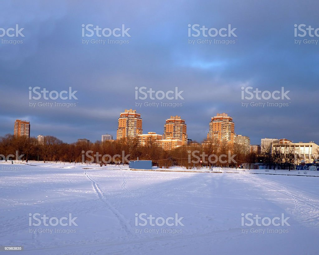 winter in city january royalty-free stock photo