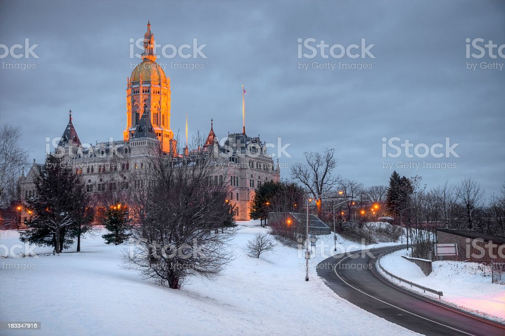 Winter in Connecticut stock photo
