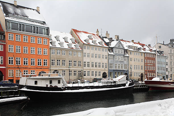 Winter in Kopenhagen, Nyhavn. – Foto