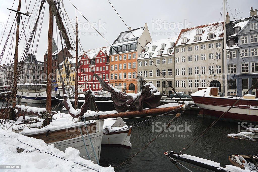 Winter in Kopenhagen, Nyhavn. – Foto