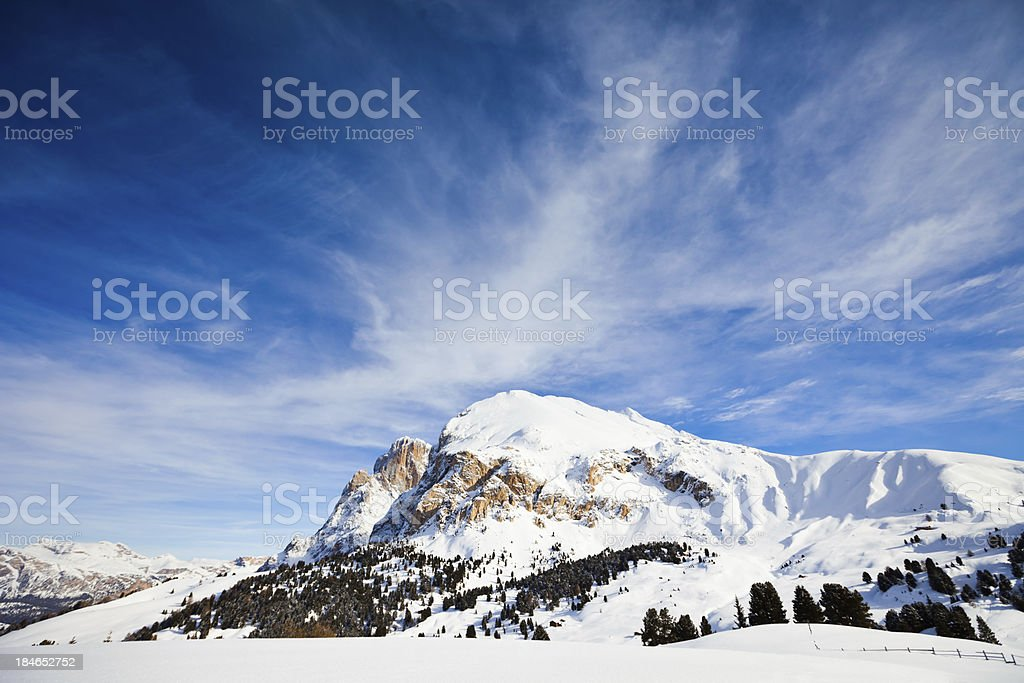 Winter in Dolomite Alps, Italy royalty-free stock photo