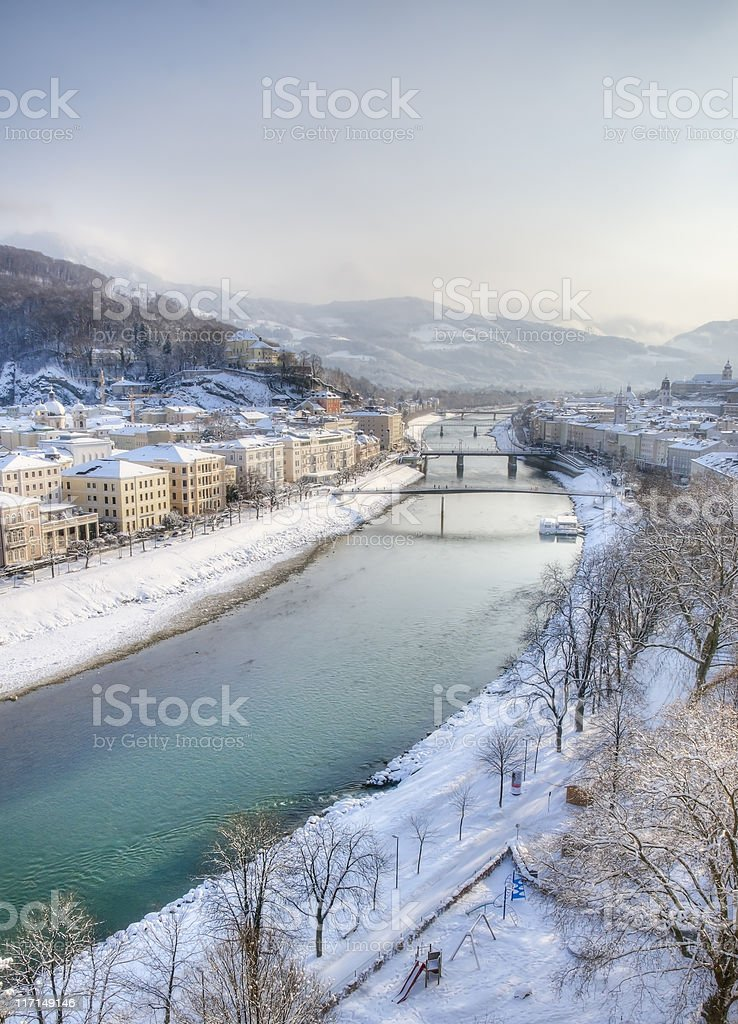 Winter in Europe royalty-free stock photo