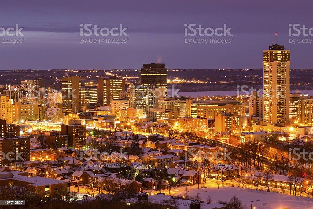 Winter in Hamilton Ontario Canada stock photo