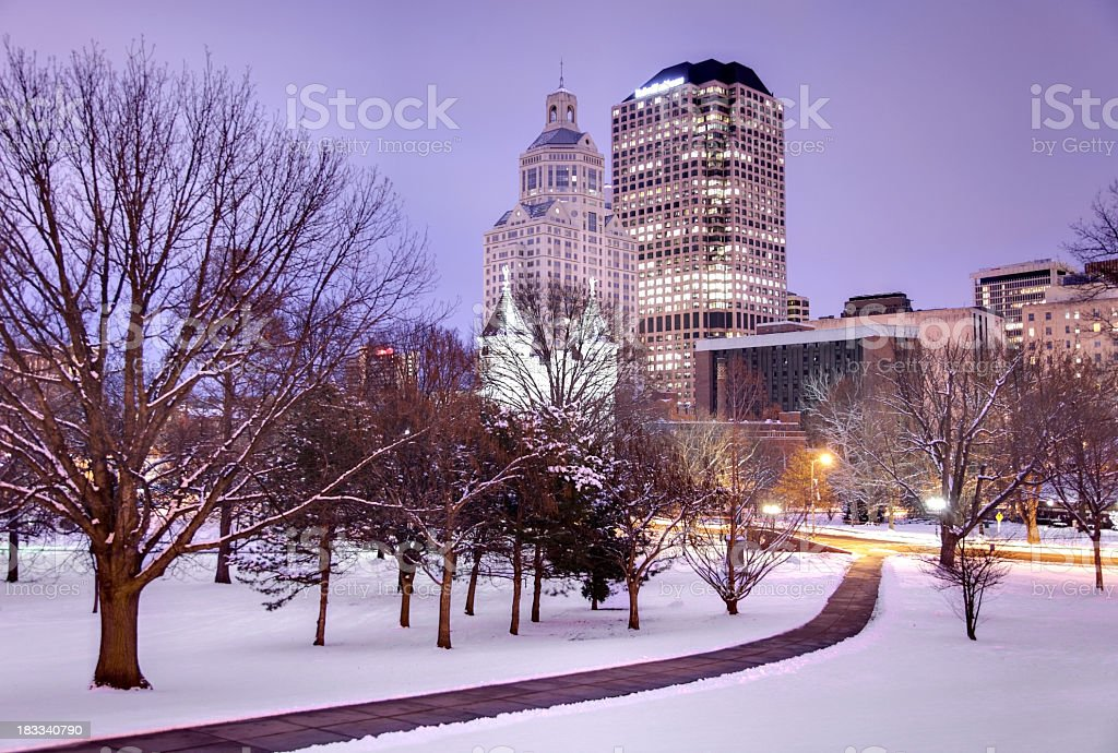 Winter in Hartford stock photo