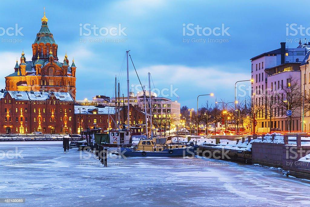 Winter in Helsinki, Finland stock photo