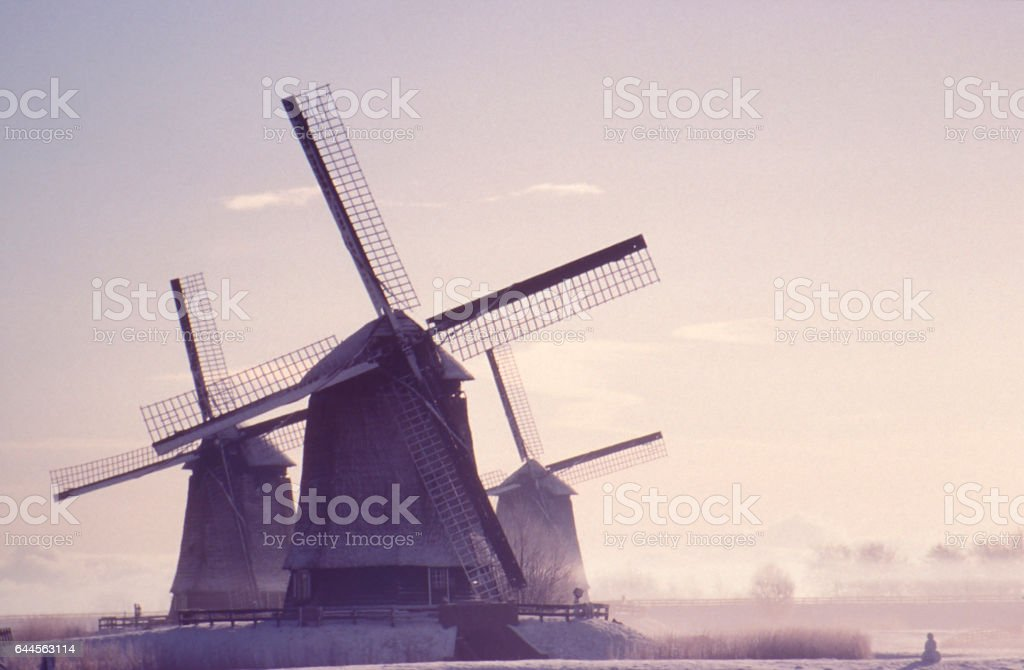Winter in Holland stock photo