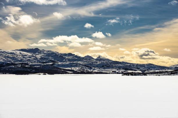 Winter in Lofoten stock photo