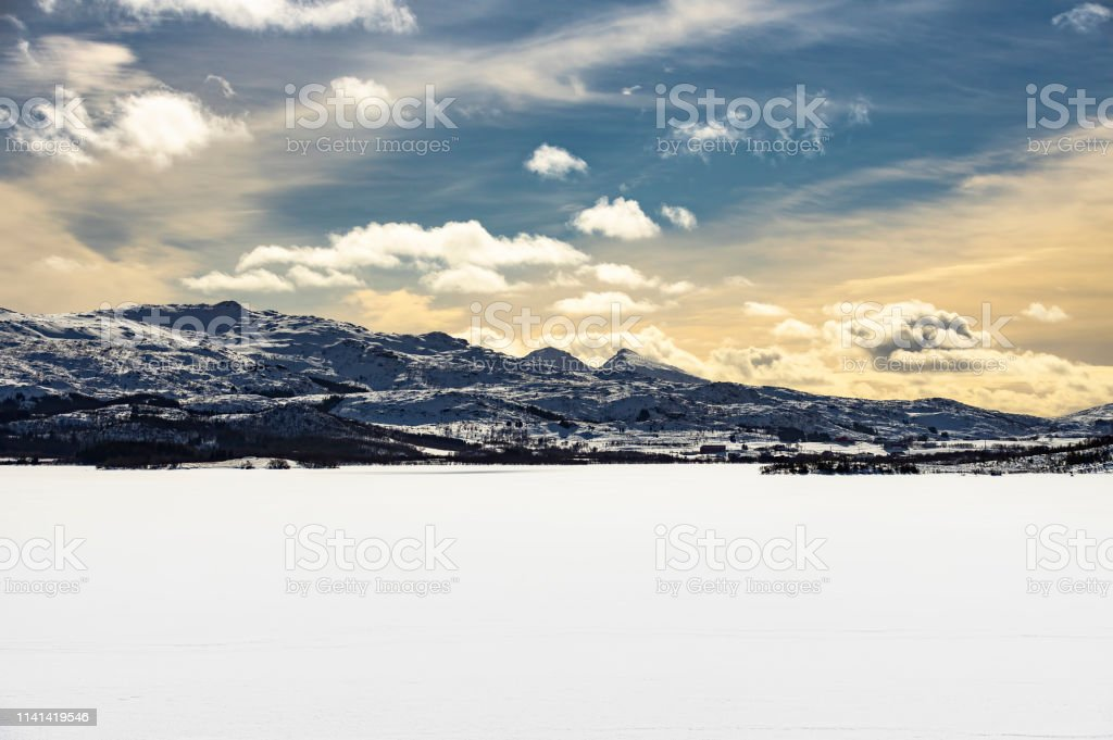 Winter in Lofoten stock photo