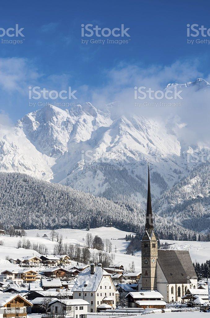 Winter in Maria Alm stock photo