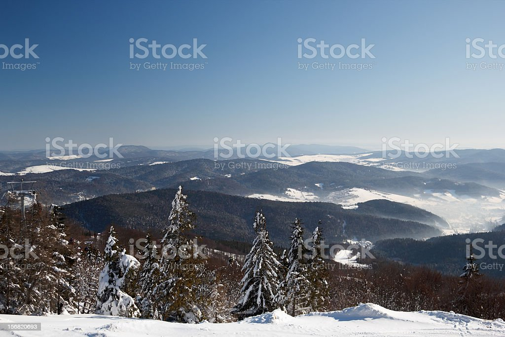 Winter in Mountain royalty-free stock photo