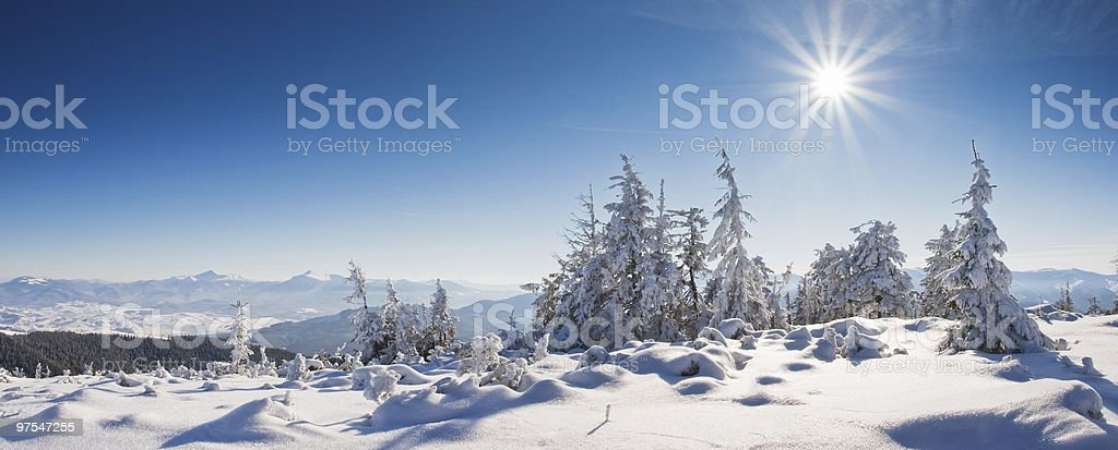 winter in mountains royalty-free stock photo