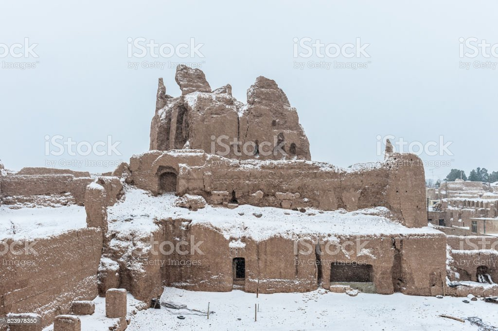 Winter in Naein, Iran stock photo