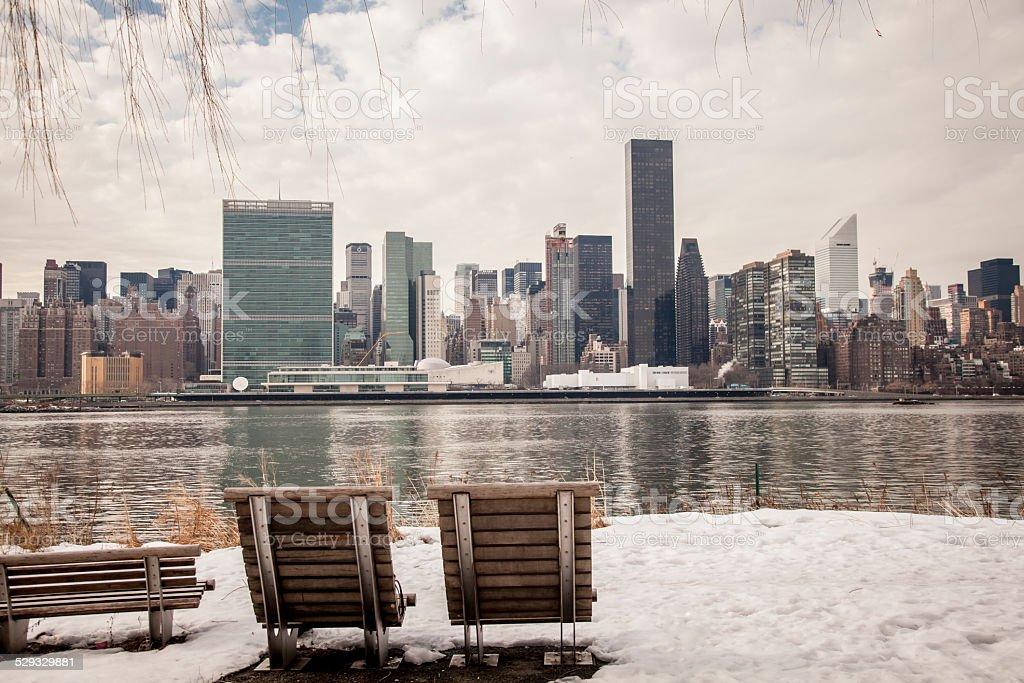 Winter in New York City stock photo