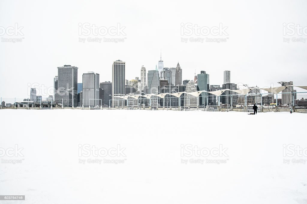 Winter in New York stock photo
